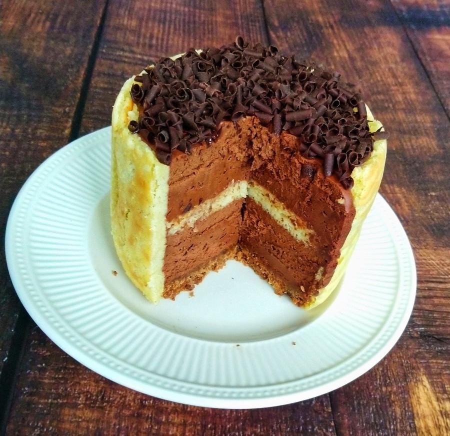 Chocolade taartje met moussevulling