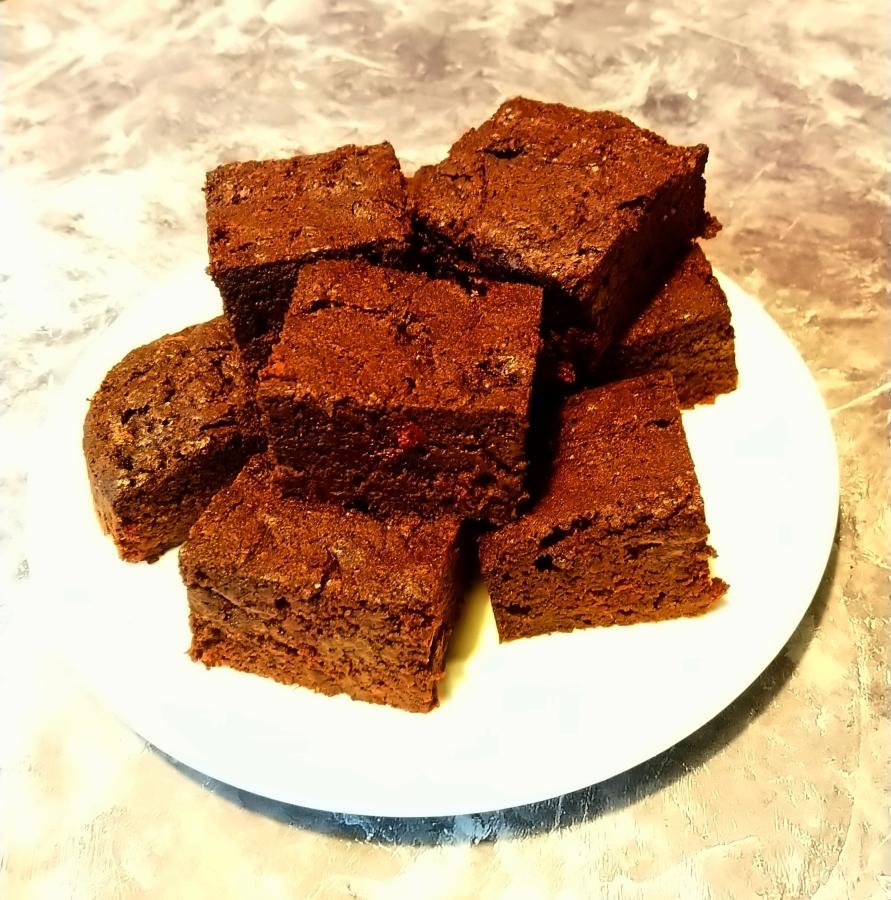Brownies met rodebiet