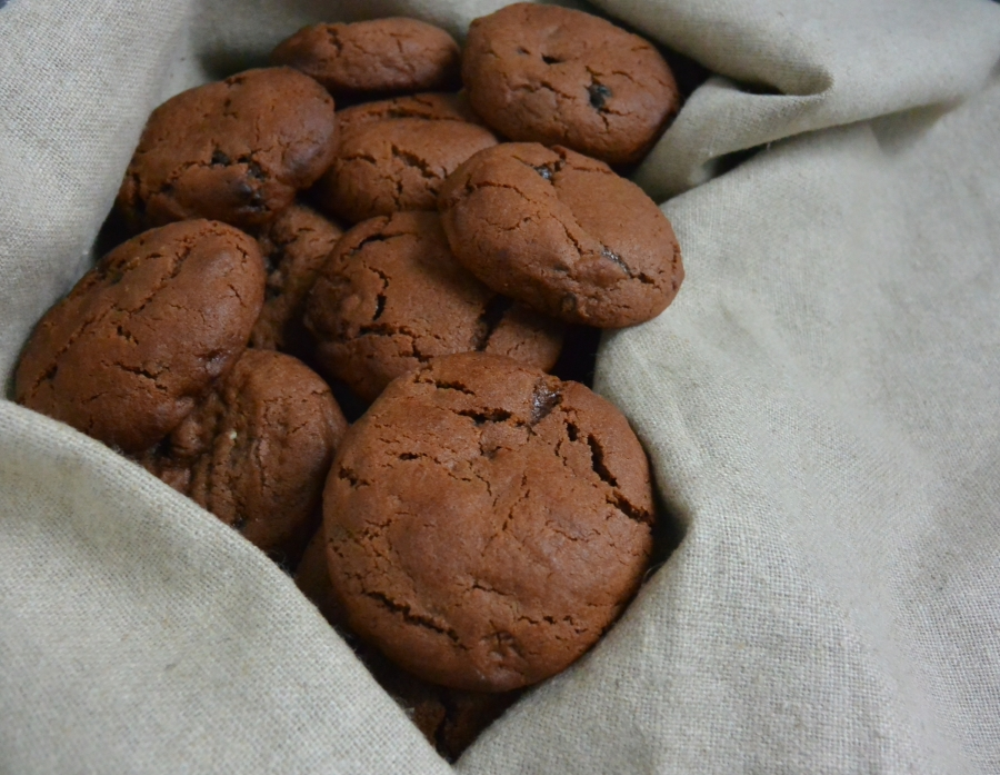 C4: Chewy Chocolate Cherry Cookies